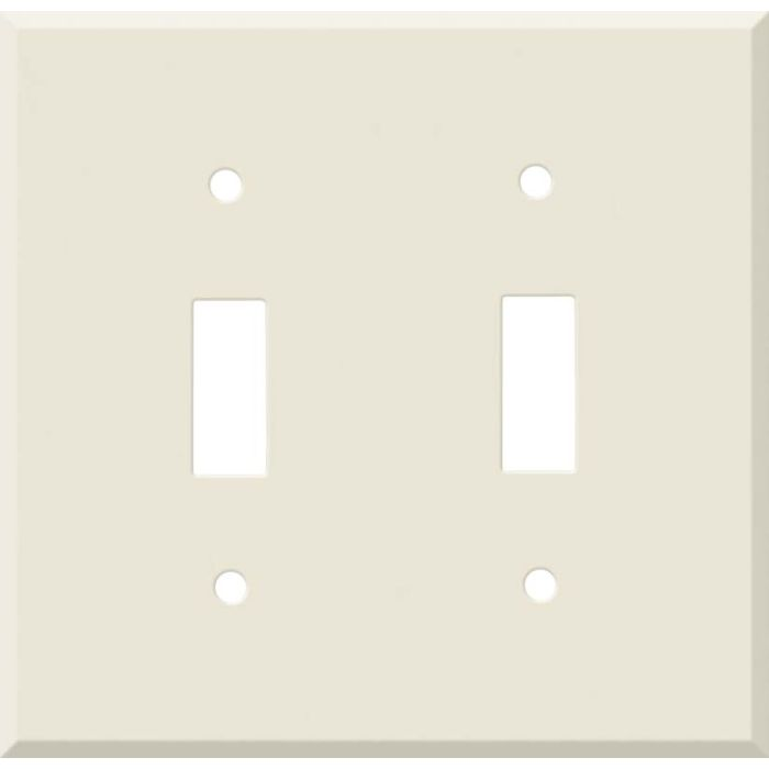 Corian Vanilla Double 2 Toggle Switch Plate Covers