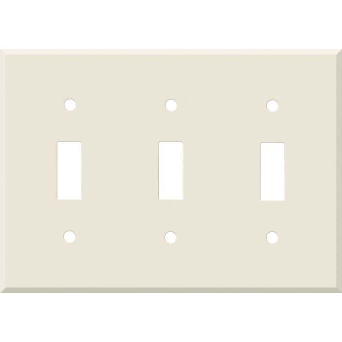 Corian Vanilla Triple 3 Toggle Light Switch Covers