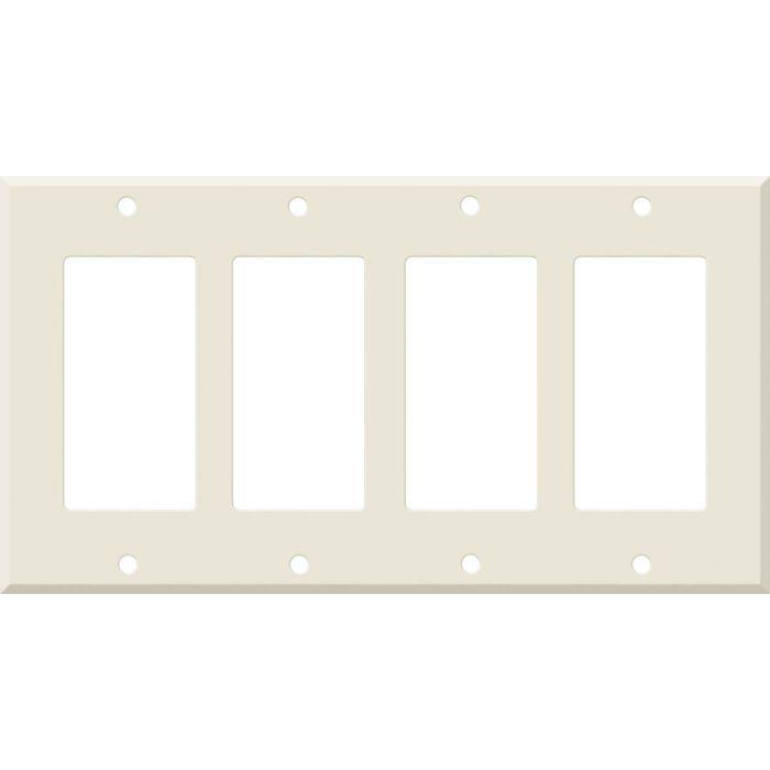 Corian Vanilla 4 Rocker GFCI Decorator Switch Plates