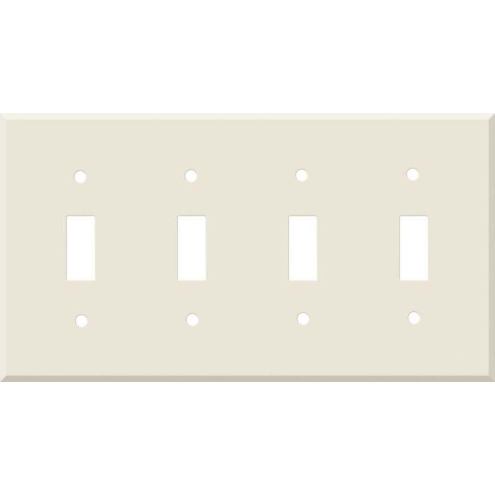 Corian Vanilla Quad 4 Toggle Light Switch Covers