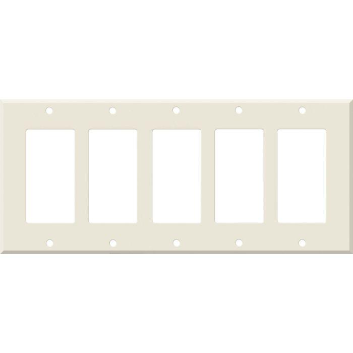 Corian Vanilla 5 GFCI Rocker Decora Switch Covers