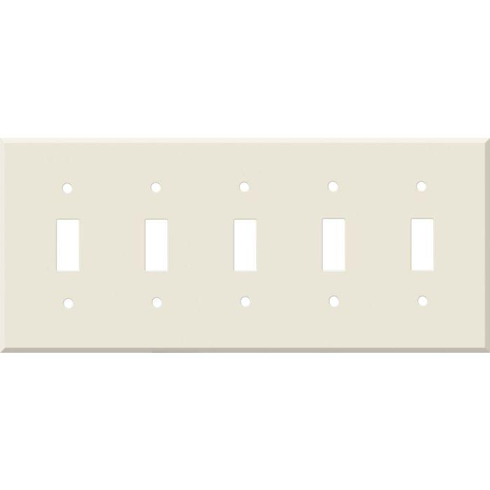 Corian Vanilla 5 Toggle Wall Switch Plates