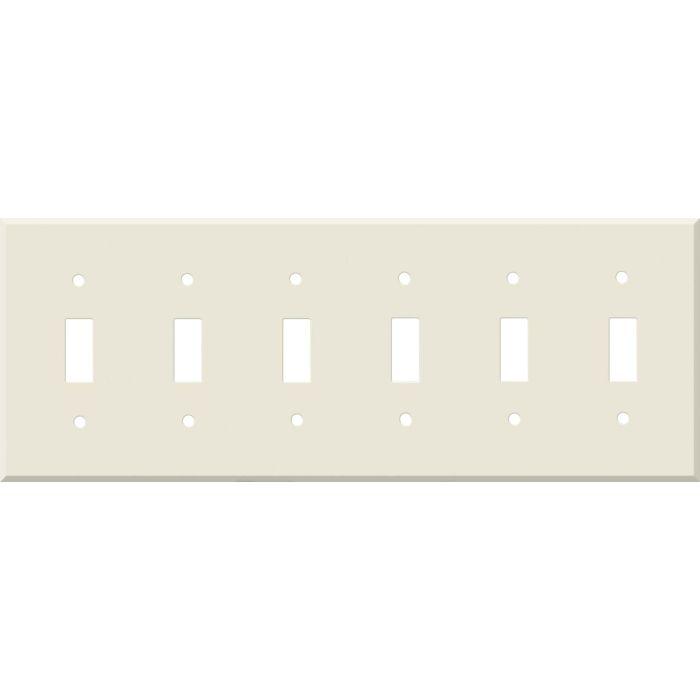 Corian Vanilla 6 Toggle Wall Plate Covers