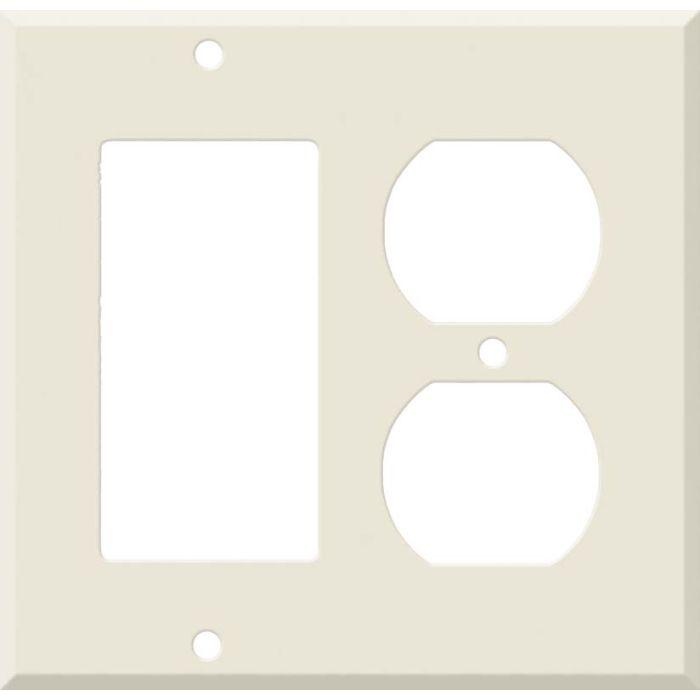 Corian Vanilla Combination GFCI Rocker / Duplex Outlet Wall Plates