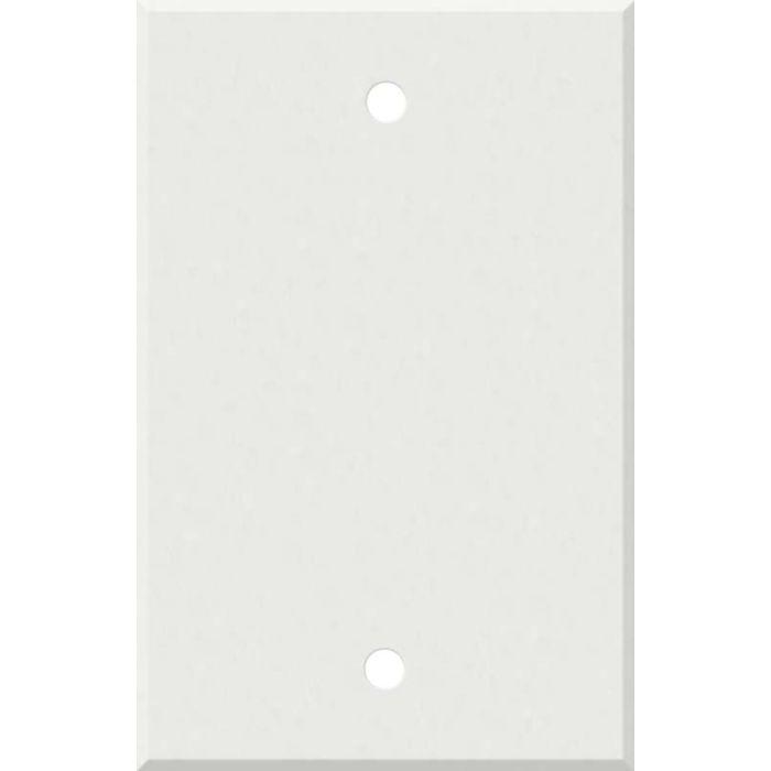 Corian Venaro White 1 Gang Blank Wall Plates