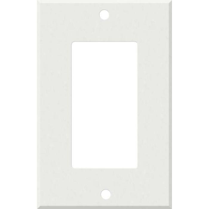 Corian Venaro White 1-Gang GFCI Decorator Rocker Switch Plate Cover