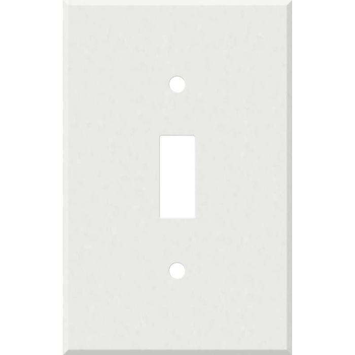 Corian Venaro White 1 Toggle Light Switch Cover