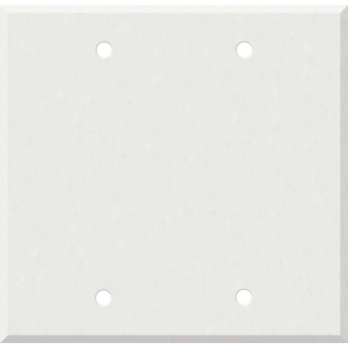Corian Venaro White 2 Double Blank Wall Plates