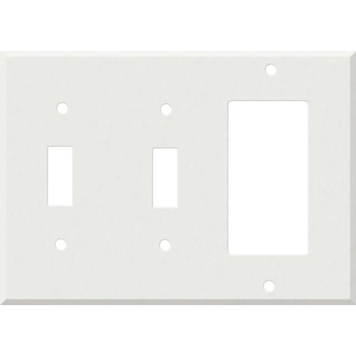 Corian Venaro White Double 2 Toggle / 1 GFCI Rocker Combo Switchplates