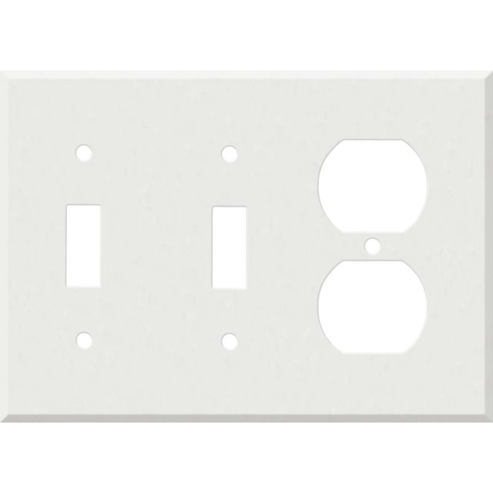 Corian Venaro White Double 2 Toggle / Outlet Combination Wall Plates