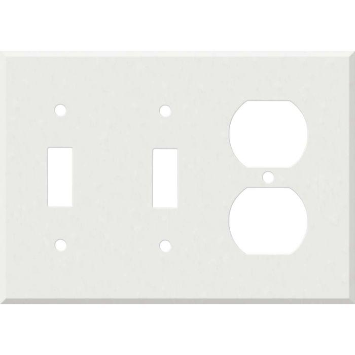 Corian Venaro White 2-Toggle / 1-Duplex Outlet - Combination Wall Plates