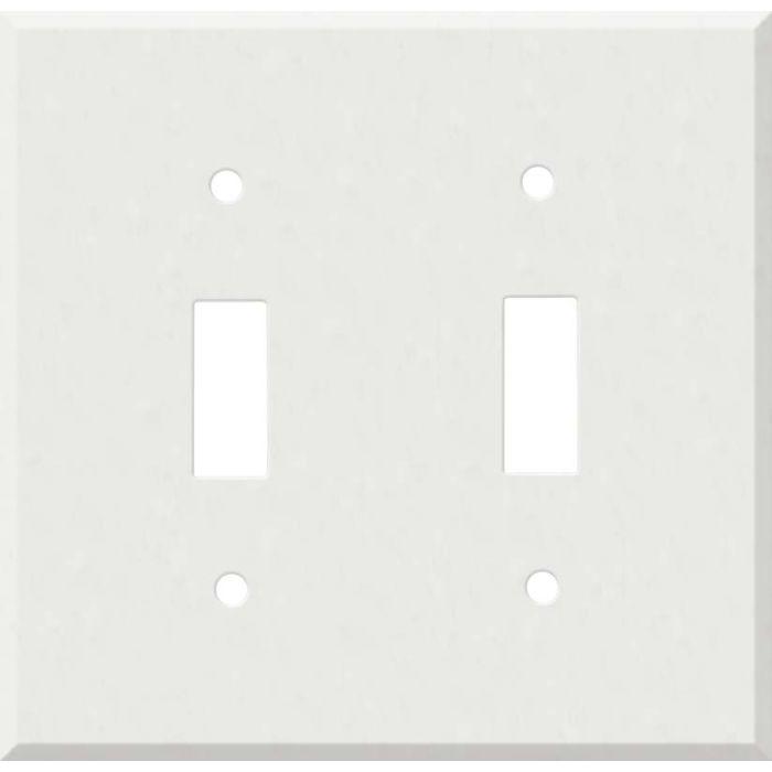 Corian Venaro White 2 Toggle Switch Plates