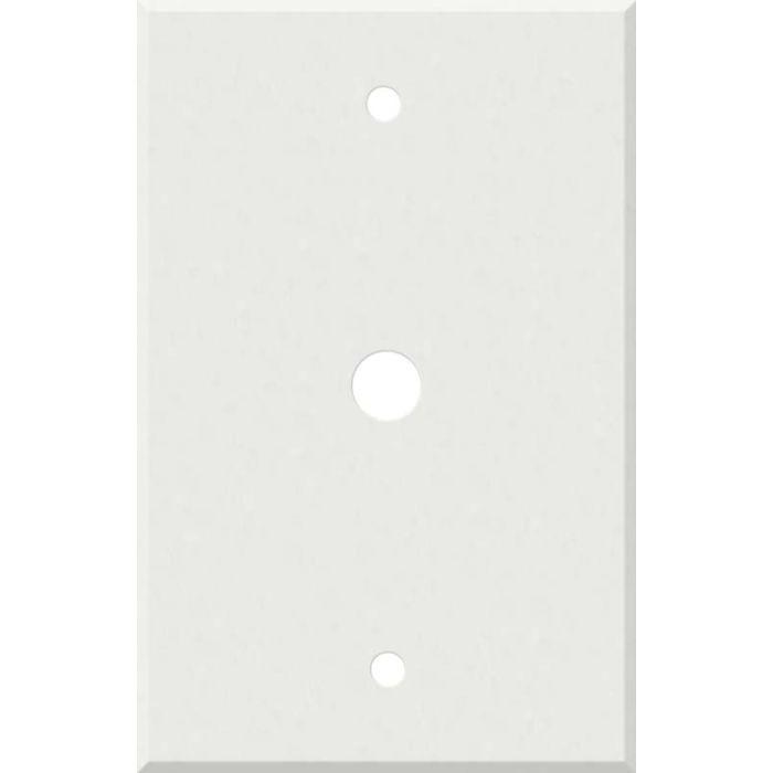 Corian Venaro White Coax Cable TV Wall Plates