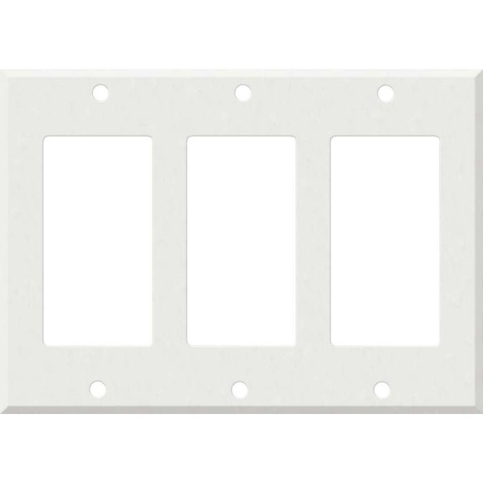 Corian Venaro White Triple 3 Rocker GFCI Decora Light Switch Covers