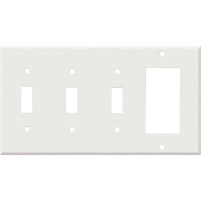 Corian Venaro White 3-Toggle / 1-Decorator / Rocker - Combination Wall Plates