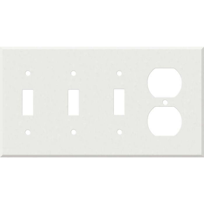 Corian Venaro White 3-Toggle / 1-Duplex - Combination Wall Plates