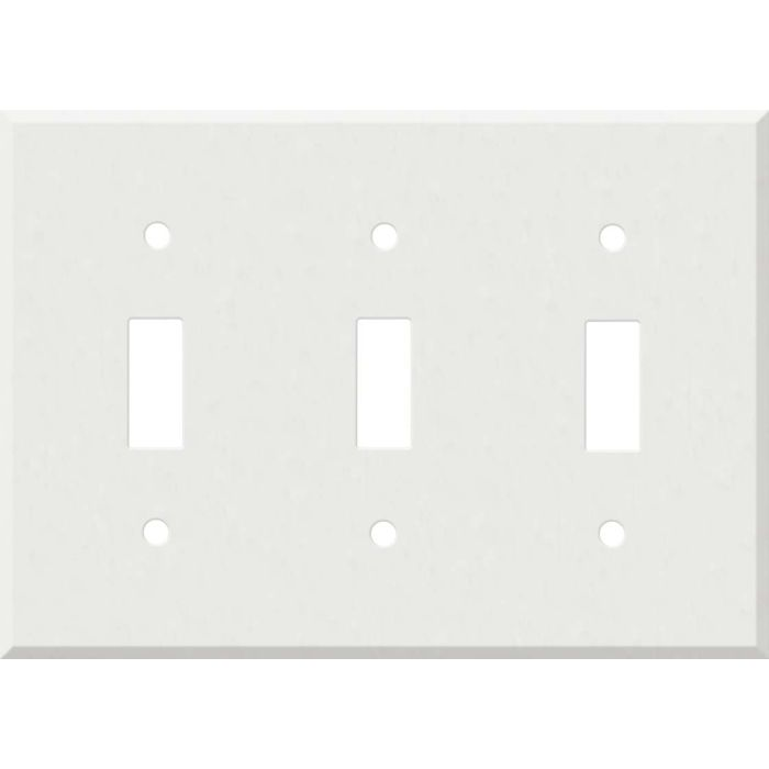 Corian Venaro White 3 - Toggle Switch Plates