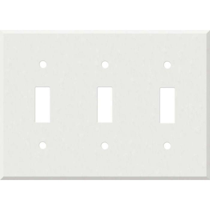 Corian Venaro White Triple 3 Toggle Light Switch Covers