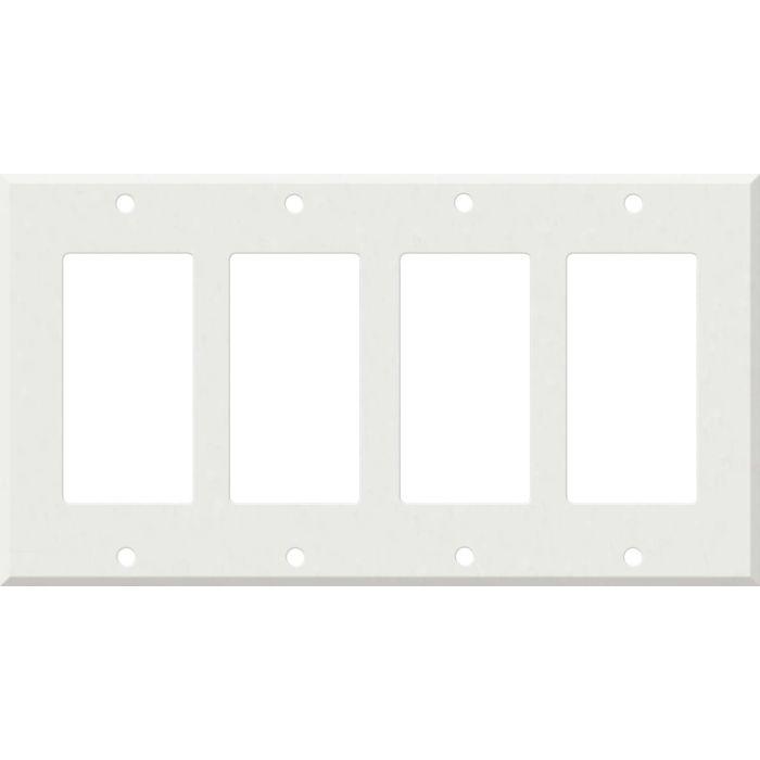 Corian Venaro White 4 Rocker GFCI Decorator Switch Plates
