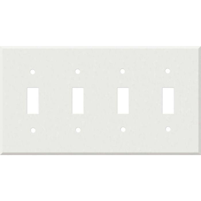 Corian Venaro White Quad 4 Toggle Light Switch Covers