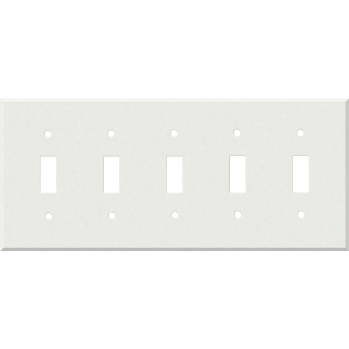 Corian Venaro White 5 Toggle Wall Switch Plates