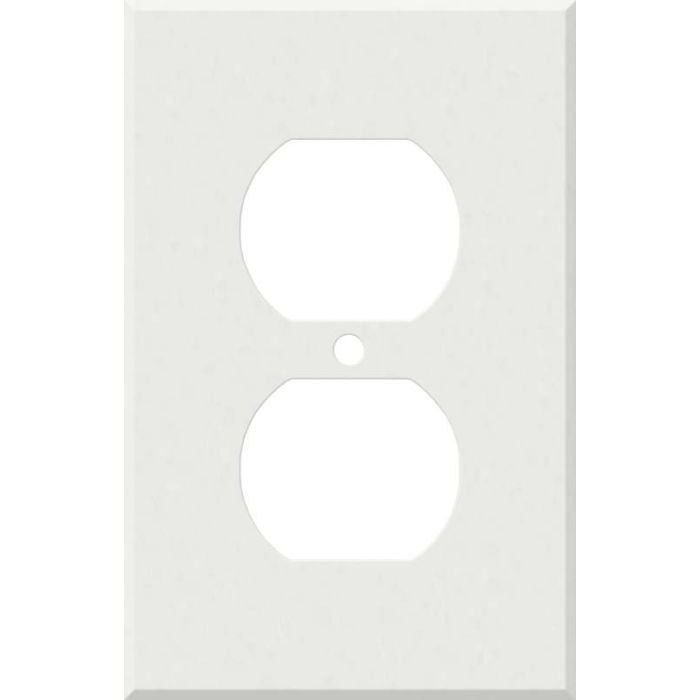 Corian Venaro White 1 Gang Duplex Outlet Cover Wall Plate