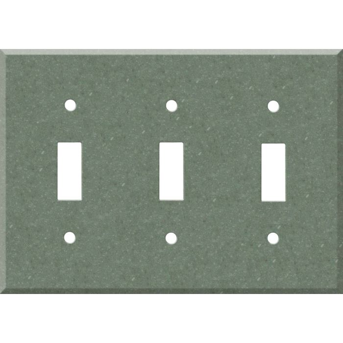 Corian Verde Triple 3 Toggle Light Switch Covers