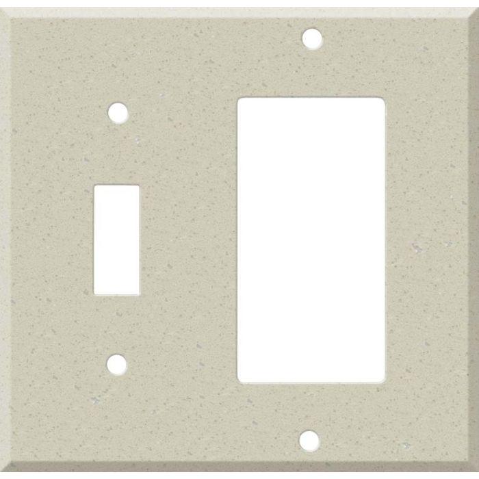 Corian Whisper Combination 1 Toggle / Rocker GFCI Switch Covers