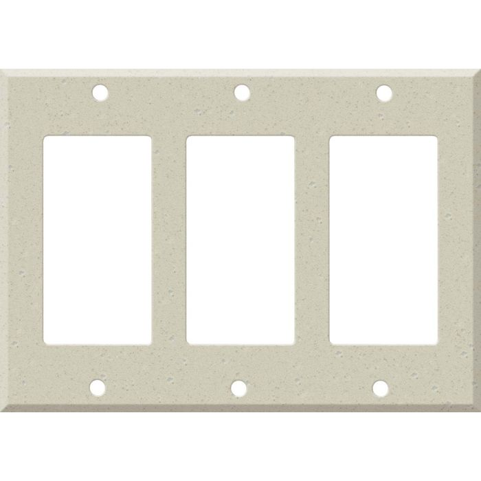 Corian Whisper Triple 3 Rocker GFCI Decora Light Switch Covers