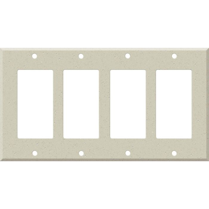 Corian Whisper 4 Rocker GFCI Decorator Switch Plates