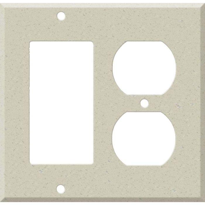 Corian Whisper Combination GFCI Rocker / Duplex Outlet Wall Plates