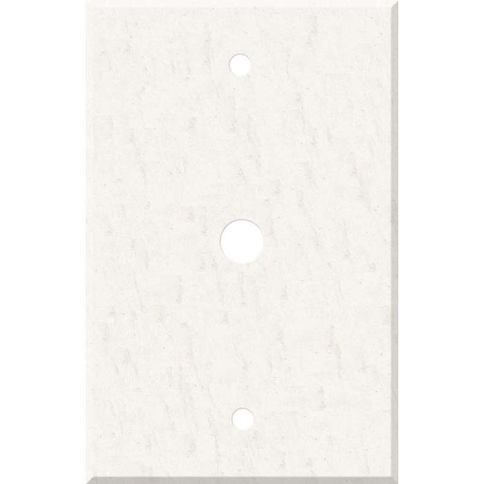 Corian White Jasmine Coax Cable TV Wall Plates