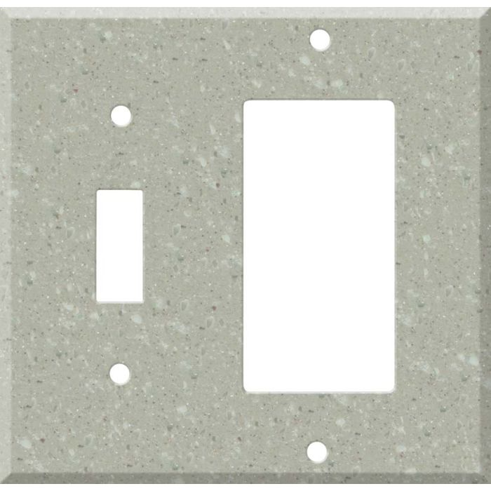 Corian Willow Combination 1 Toggle / Rocker GFCI Switch Covers