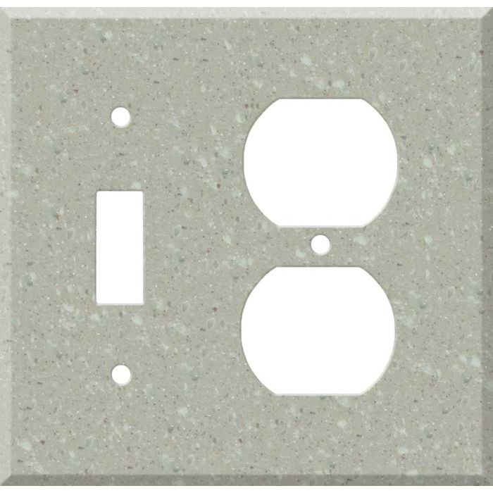 Corian Willow Combination 1 Toggle / Outlet Cover Plates