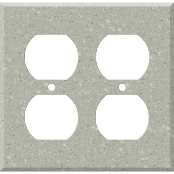 Corian Willow 2 Gang Duplex Outlet Wall Plate Cover