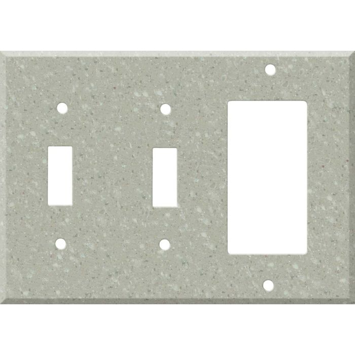 Corian Willow Double 2 Toggle / 1 GFCI Rocker Combo Switchplates