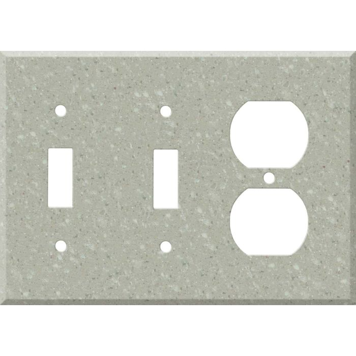 Corian Willow Double 2 Toggle / Outlet Combination Wall Plates