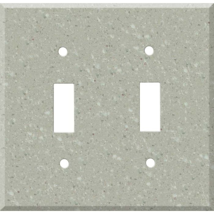 Corian Willow Double 2 Toggle Switch Plate Covers
