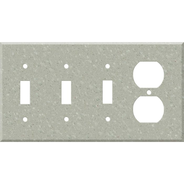 Corian Willow Combination Triple 3 Toggle / Outlet Wall Plate Covers