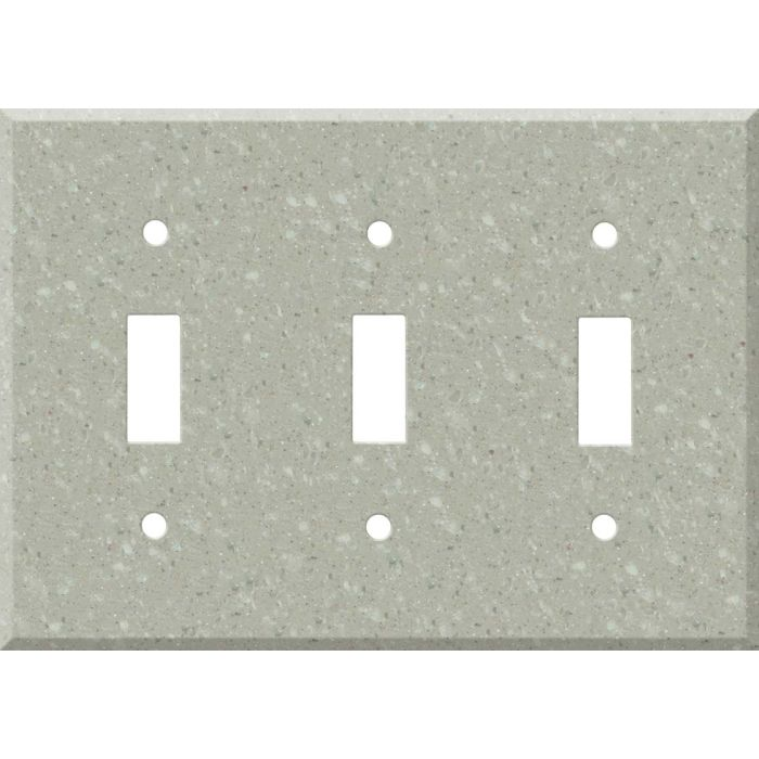 Corian Willow Triple 3 Toggle Light Switch Covers