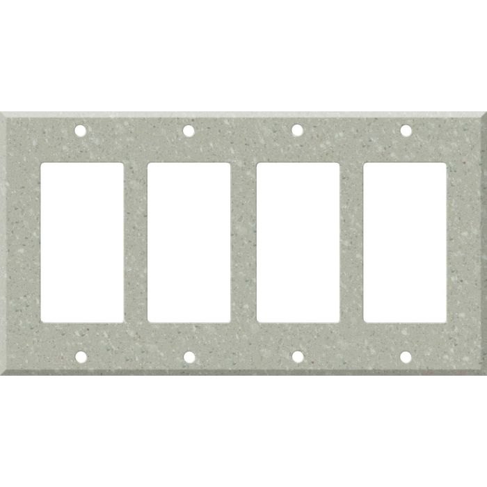 Corian Willow 4 Rocker GFCI Decorator Switch Plates