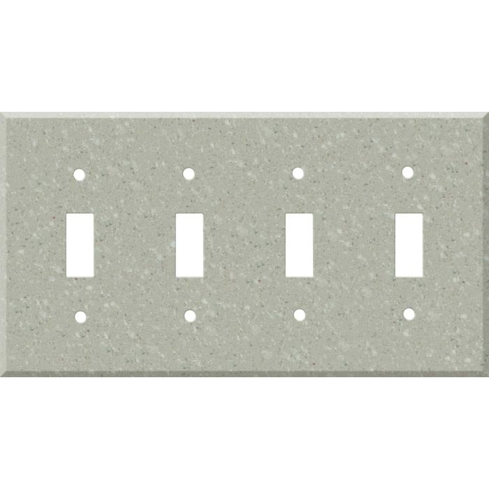 Corian Willow Quad 4 Toggle Light Switch Covers