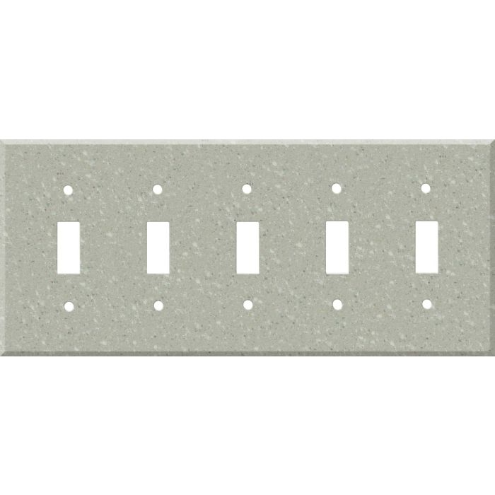 Corian Willow 5 Toggle Wall Switch Plates