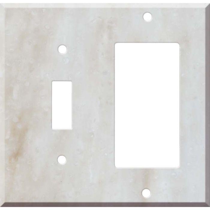 Corian Witch Hazel 1 Toggle Wall Switch Plate - GFI Rocker Cover Combo