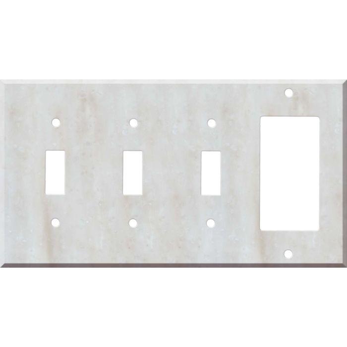 Corian Witch Hazel 3-Toggle / 1-Decorator / Rocker - Combination Wall Plates