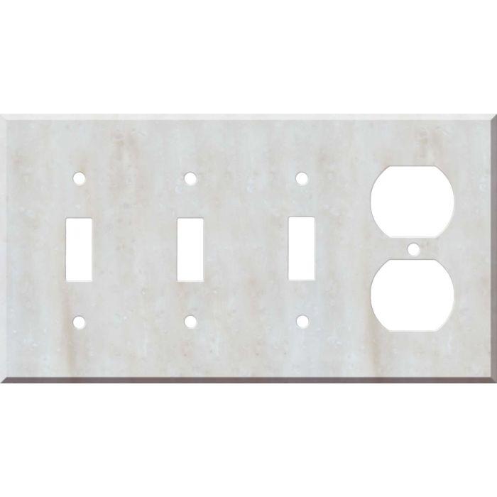 Corian Witch Hazel 3-Toggle / 1-Duplex - Combination Wall Plates