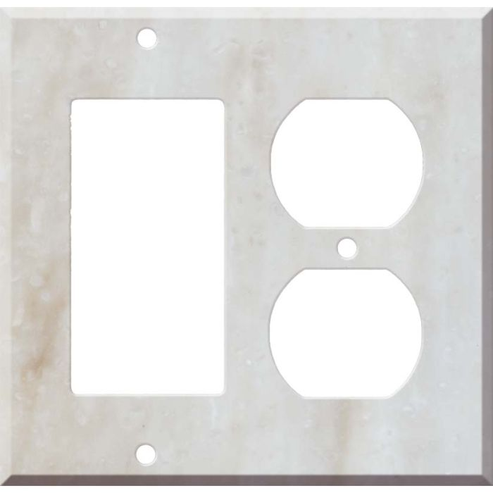 Corian Witch Hazel Decora GFCI Rocker / Duplex Outlet Combination Wall Plate