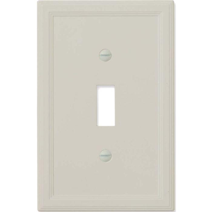 Cornice Insulated Gray Satin Single 1 Toggle Light Switch Plates