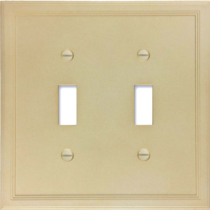 Cornice Insulated Sandstone Double 2 Toggle Switch Plate Covers