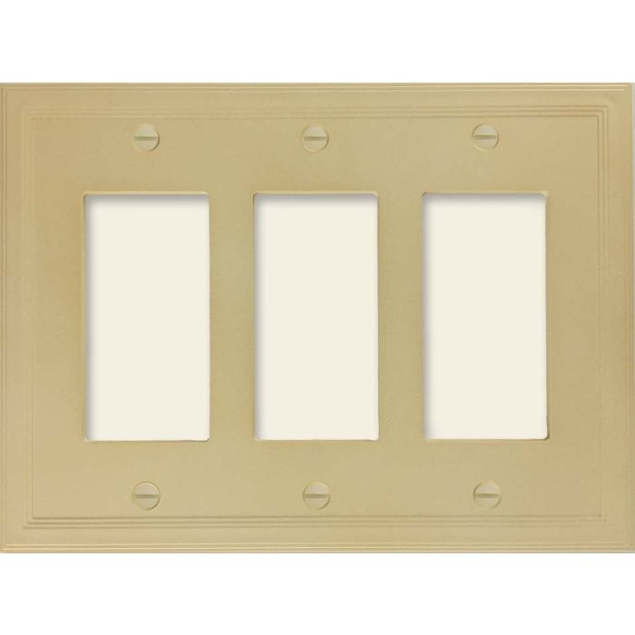 Cornice Insulated Sandstone Triple 3 Rocker GFCI Decora Light Switch Covers